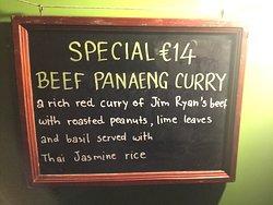 Once Upon a Thai menu