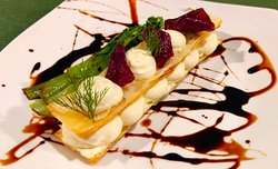 Millefeuille of goat cheese