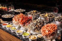 Seafood buffet line at Urban Kitchen