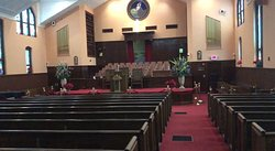 Inside the church where sermons of M.L.King constantly play on a speaker.