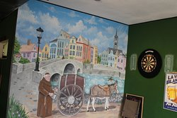 Charming mural at The Belgian Monk