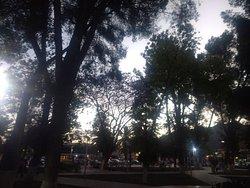 Plaza central.
