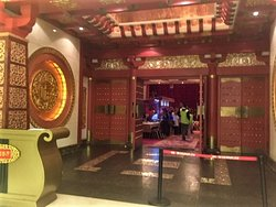 Impressive entrance to restaurant