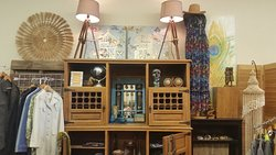 Lots of fun boho decor, clothing and accessories.