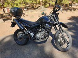 XT660, really suited to the island solo, Avoid the GC-606, a seriously nadgery road.