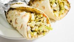 Shawarma's (Egg / Chicken / Beef) Fresh Salads, Marinated Meats with Tortilla Base