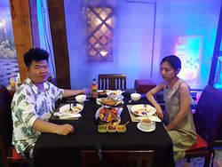 Our lovely Chinese customer enjoying BBQ Grill