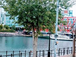 Quays waterfront area of Manchester uk