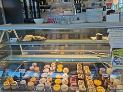 Selection of refrigerated cakes and desserts