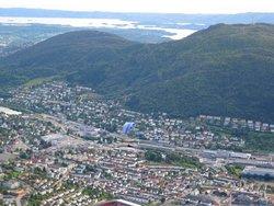 Panorama Bergen ze szczytu