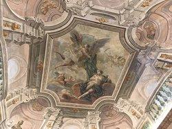 Breakfast lounge ceiling fresco