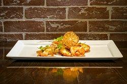 Crevettes sauvages griléées - agrumes & huile de truffes