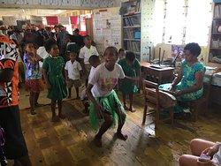Children dance for us