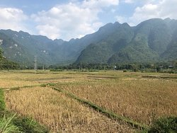 2 night stay overlooking the rice paddy fields with the mountains in the distance