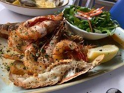 Char-grilled seafood restaurant