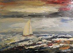 ''Sur une mer agitée - 30'' x 40'' by Richard Riverin