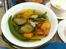 More shrimps than you can imagine in this sinigang.