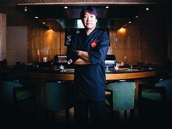 At Shogun, Chef Komatsu handcrafts sushi rolls for your tasting delights.