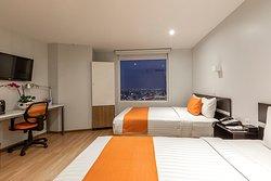 Habitación Doble, con capacidad para hasta 4 personas