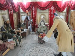 The tableau of a European being received by Karim Khan