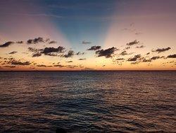 Sunset crepuscular rays