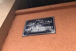 Rue Yves Saint Laurent street sign by the Jardin Majorelle