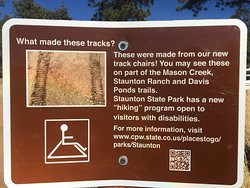 There are some handicap accessible trails.