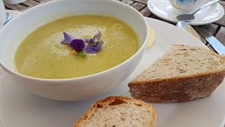 Carrot and coconut soup with award winning sourdough