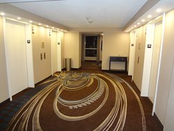 Very decorative floor at the elevators.