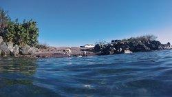 Playa Blaydin near the pier