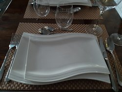 new set of cutlery and crockery.. in wave style..like the wave of our beach in termonfeckin