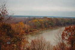 Fall colors on the Mighty Wabash River..