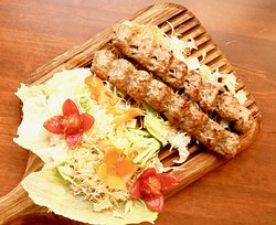 Koobideh Kebab, made of lamb mince