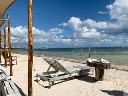 Mahuahual Golf Cart ravel to Costa Maya's Arenas Beach!