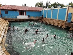 Kerrimalai hot water springs. The springs are said to have healing qualities. The water is refilled daily by fresh sea water.  You can