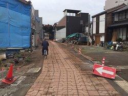 拡幅工事中の鯖街道