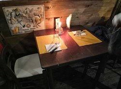Evento medievale tavolo interno