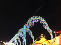 Lots of bright and colourful lights