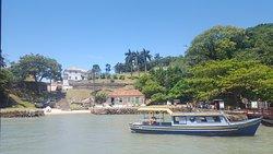 Vista do forte São Josè na ilha de Inhatomirim
