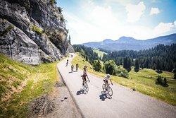 Amateurs de vélo, défiez les plus beaux massifs montagneux de Haute-Savoie au départ du camping ! (ici, le plateau des Glières)