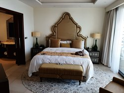 Our very large bedroom within our suite