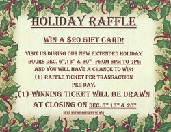 Join jus for Hot Cider and a chance to win a $20 gift card.