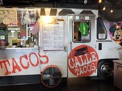 Inside food truck