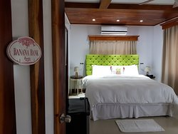One of our clean and spacious rooms ready for you.