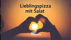 Mittagsmenü / Lunch Special @ Uni-Pizzeria Klagenfurt 03.12.2019 Gino's Favorite Pizza with a small salad (Tomato, mozzarella, ham, mushroom, artichokes, and salami) Love at first bite!