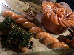 Sashimi de primeira linha, temperatura perfeita
