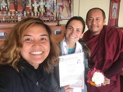 First photo : congratulations ceremony on a completion of 7 days retreat package for our friend from France.   Check out her video sharing her experience at her monastery below:   https://www.facebook.com/1191312534233827/posts/2843470335684697?vh=e&d=n&sfns=mo