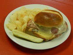 Melted Ham and Cheese Sandwich