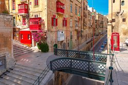 The Traditional Maltese streets, in Valletta