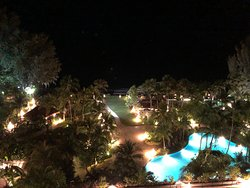 Night view from the room facing the sea on the top floor